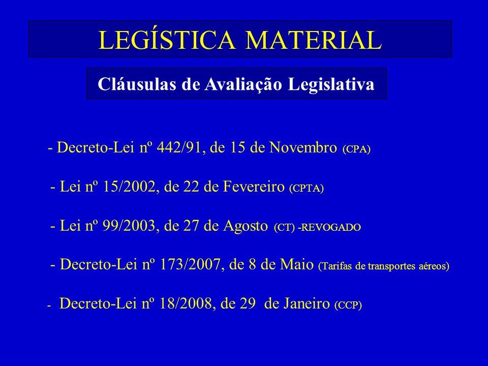 Cláusulas de Avaliação Legislativa
