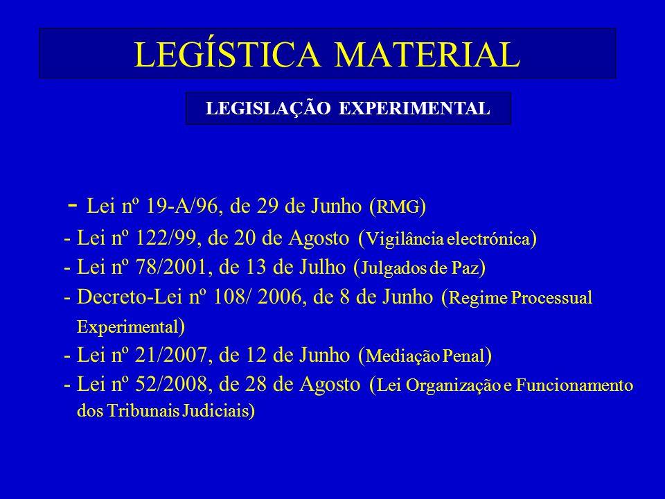 LEGISLAÇÃO EXPERIMENTAL