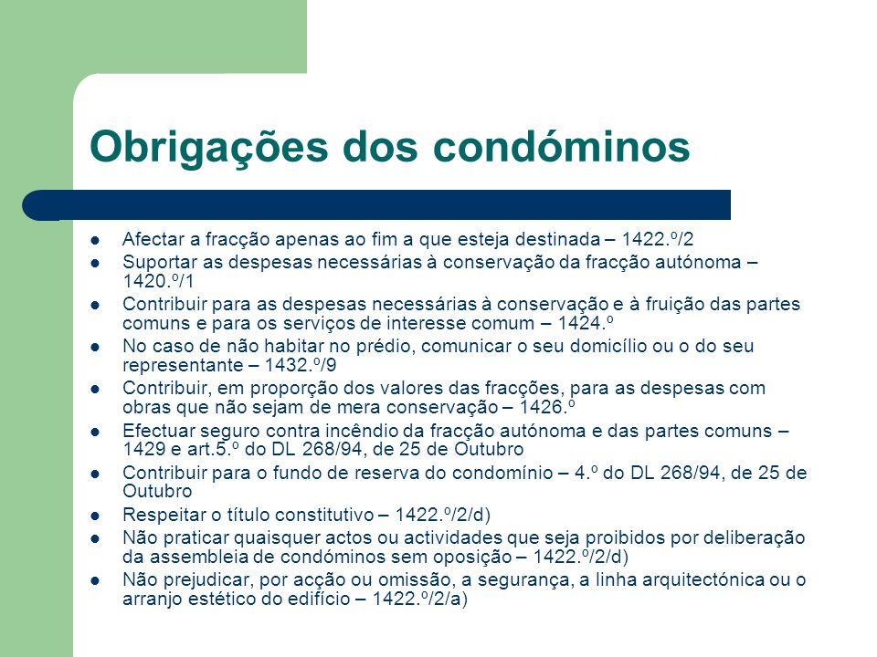 Obrigações dos condóminos