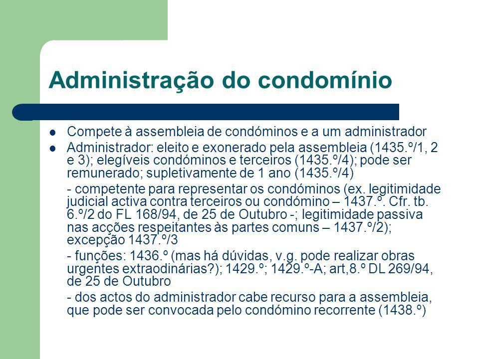 Administração do condomínio