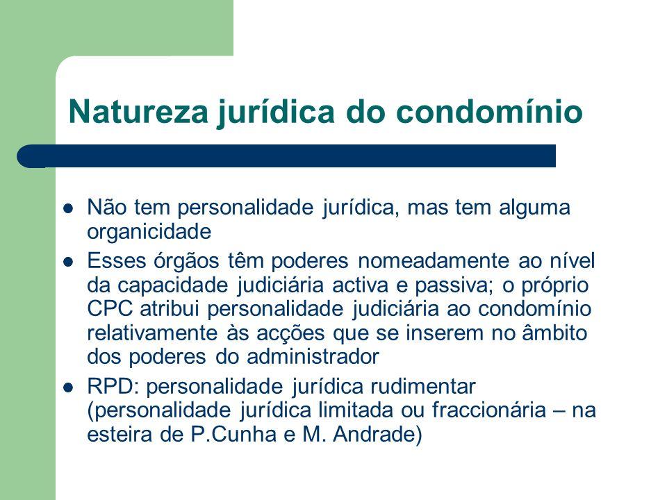 Natureza jurídica do condomínio