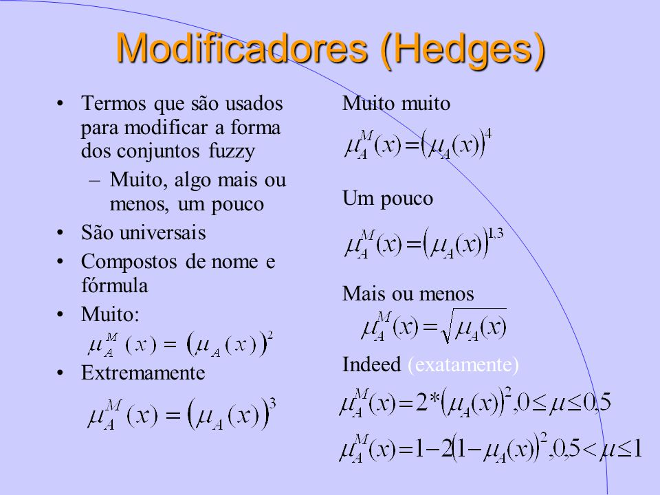Modificadores (Hedges)
