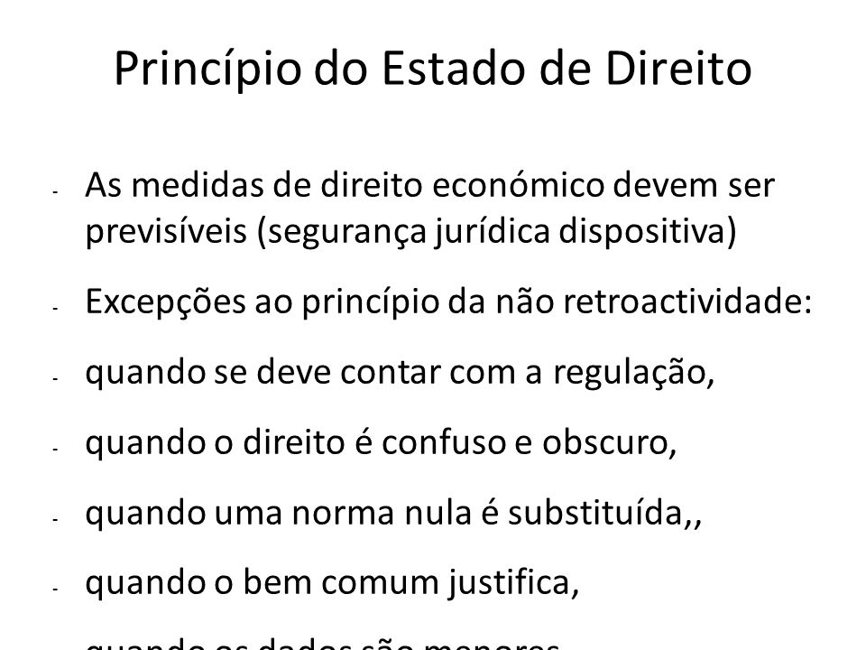 Princípio do Estado de Direito