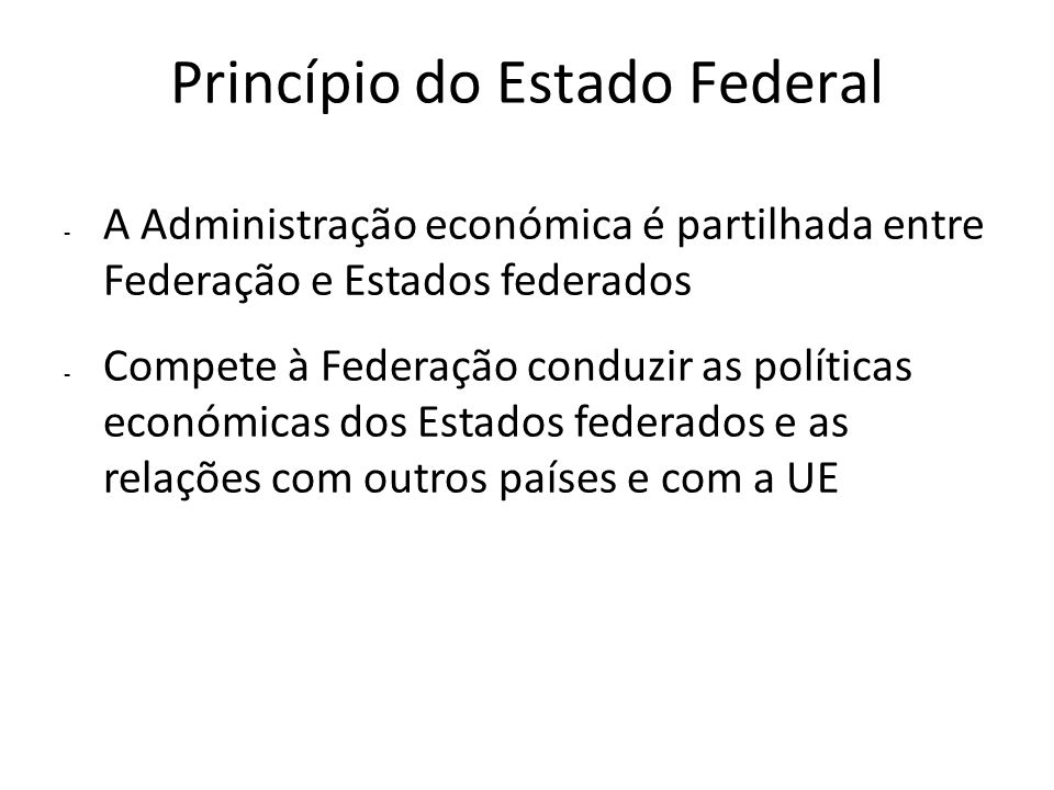 Princípio do Estado Federal