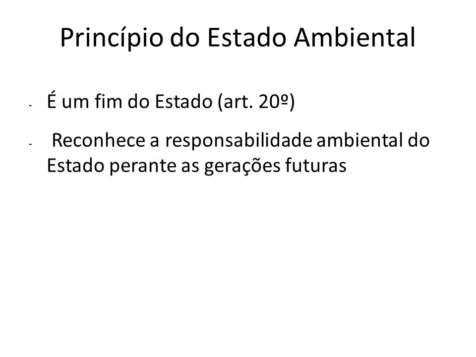 Princípio do Estado Ambiental