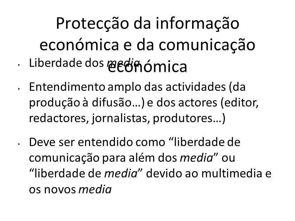 Protecção da informação económica e da comunicação económica