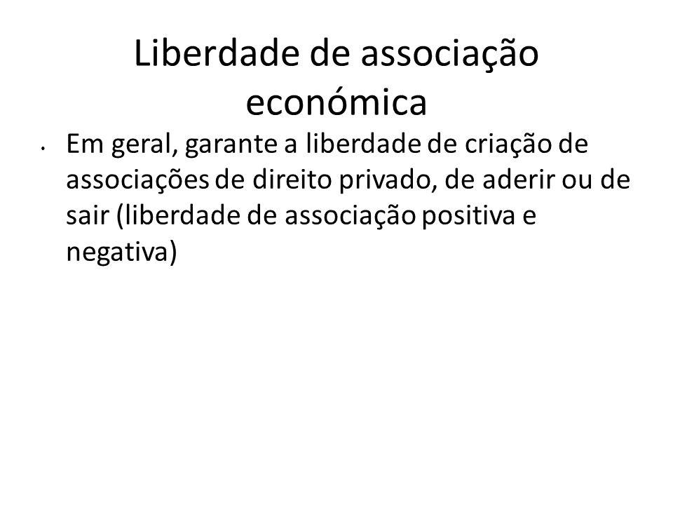 Liberdade de associação económica