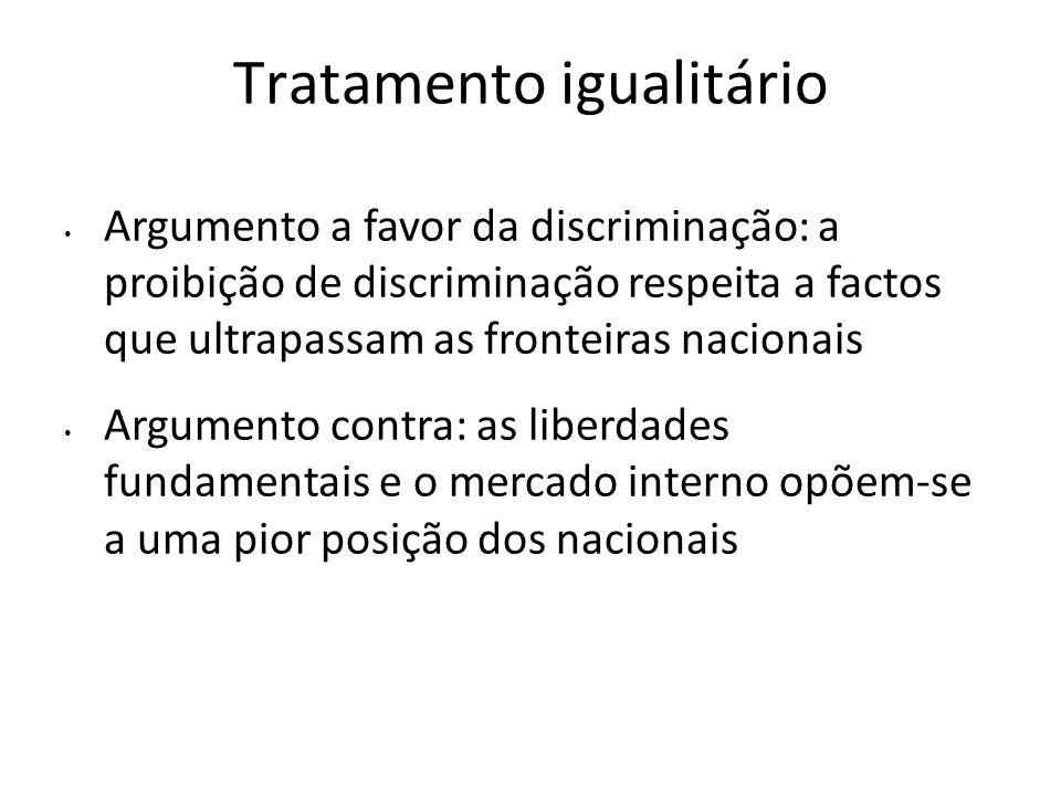 Tratamento igualitário