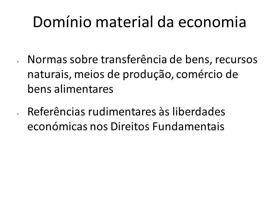 Domínio material da economia