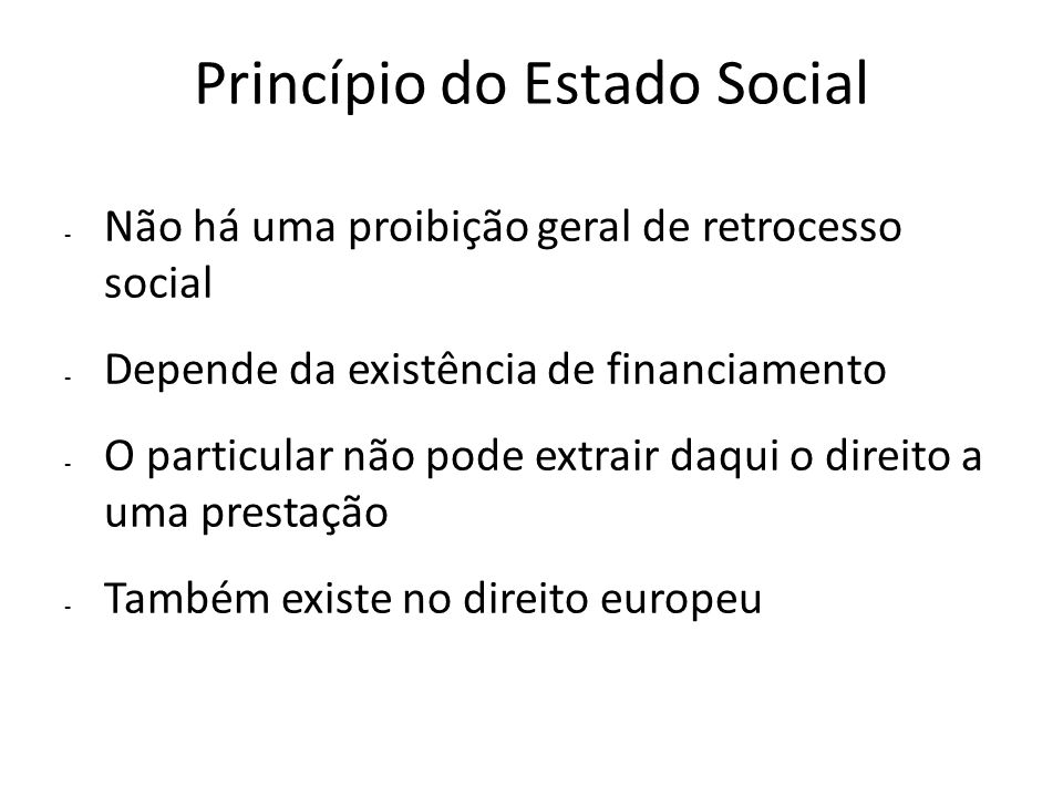 Princípio do Estado Social