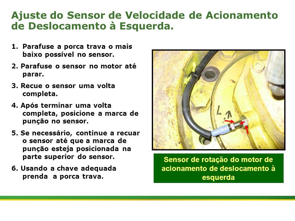 Sensor de rotação do motor de acionamento de deslocamento à esquerda