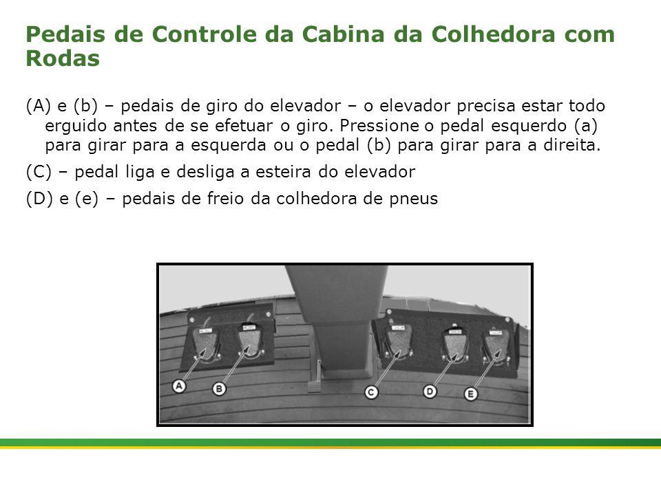 Pedais de Controle da Cabina da Colhedora com Rodas