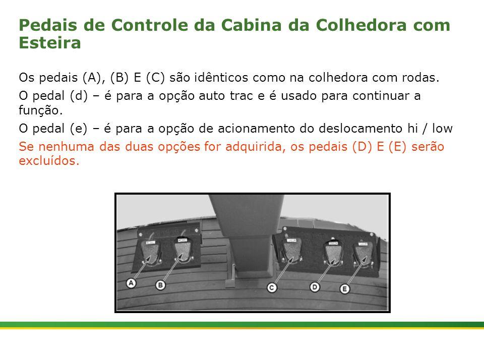 Pedais de Controle da Cabina da Colhedora com Esteira