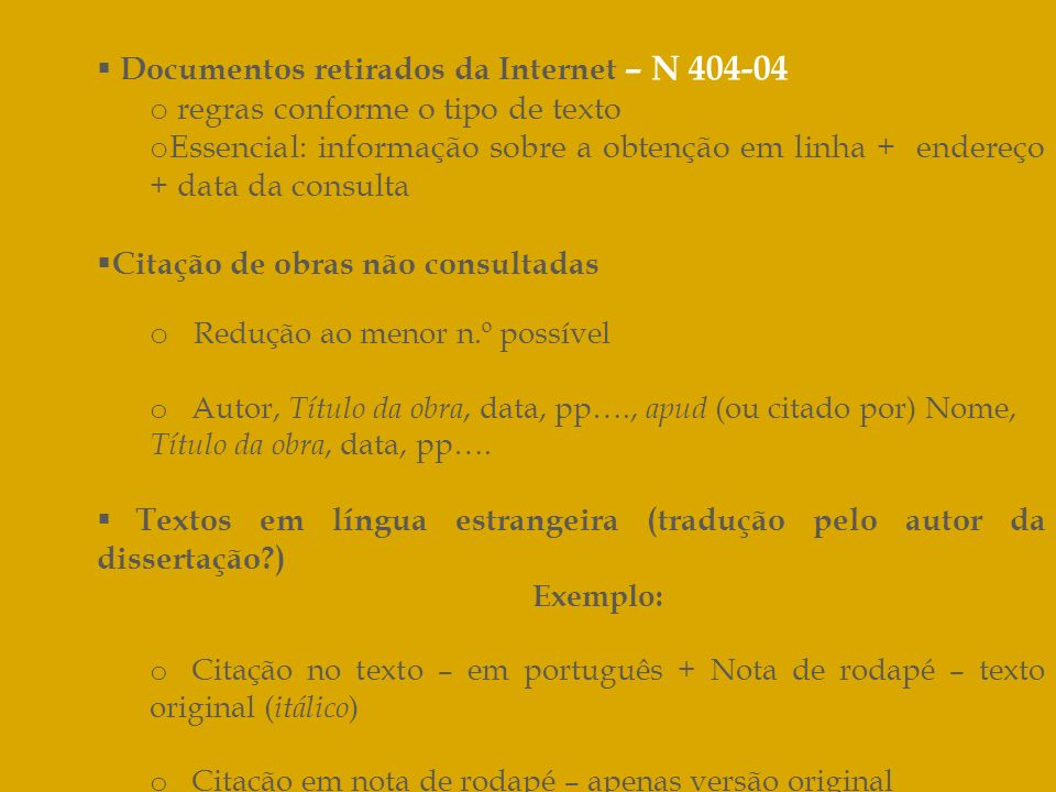 Documentos retirados da Internet – N 404-04