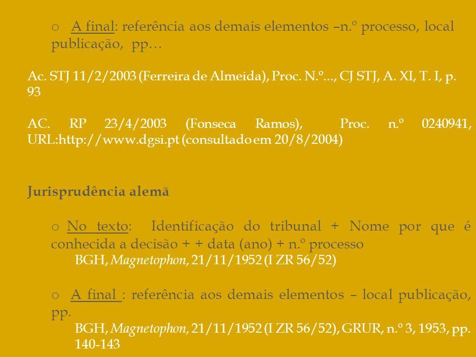 A final : referência aos demais elementos – local publicação, pp.