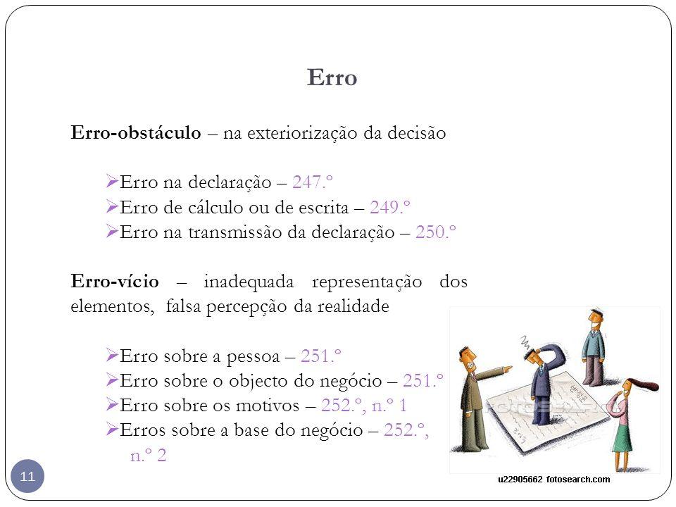 Erro Erro-obstáculo – na exteriorização da decisão