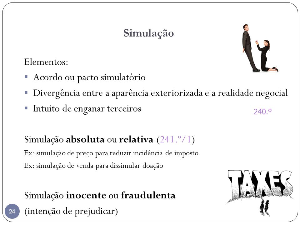 Simulação Elementos: Acordo ou pacto simulatório