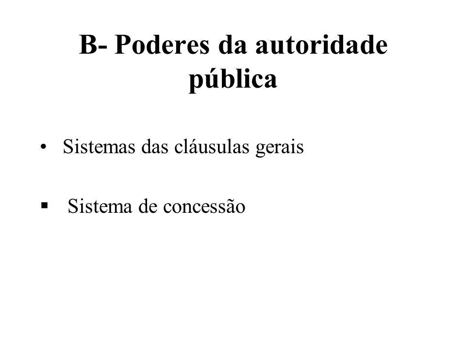 B- Poderes da autoridade pública