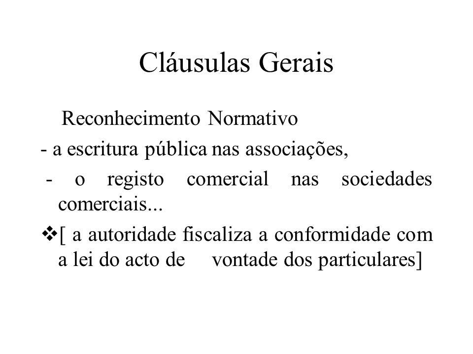 Cláusulas Gerais Reconhecimento Normativo