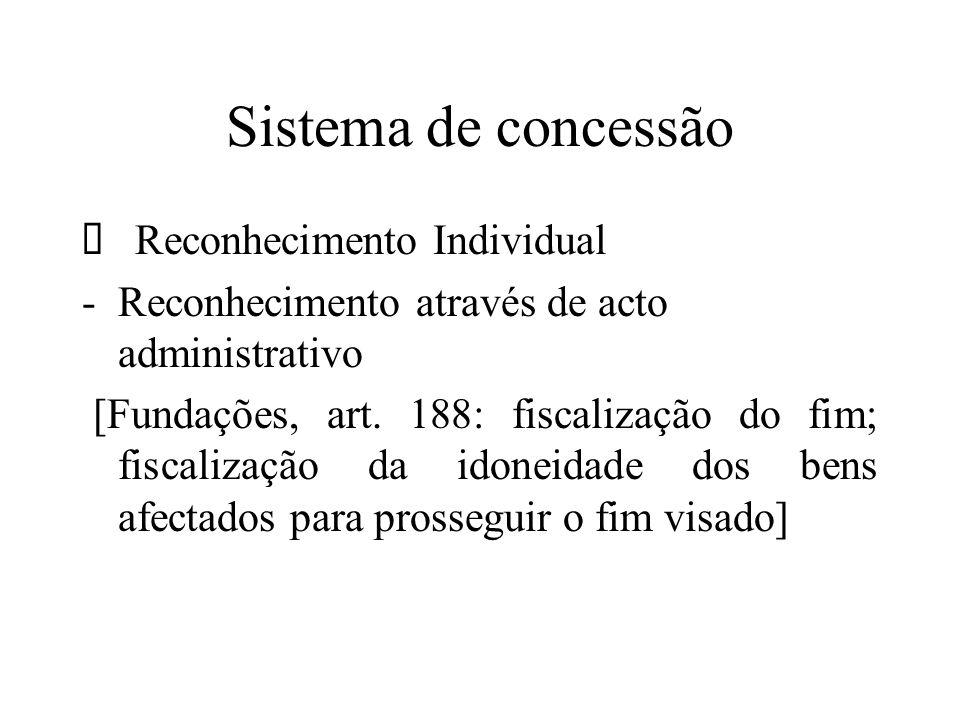 Sistema de concessão Ø Reconhecimento Individual