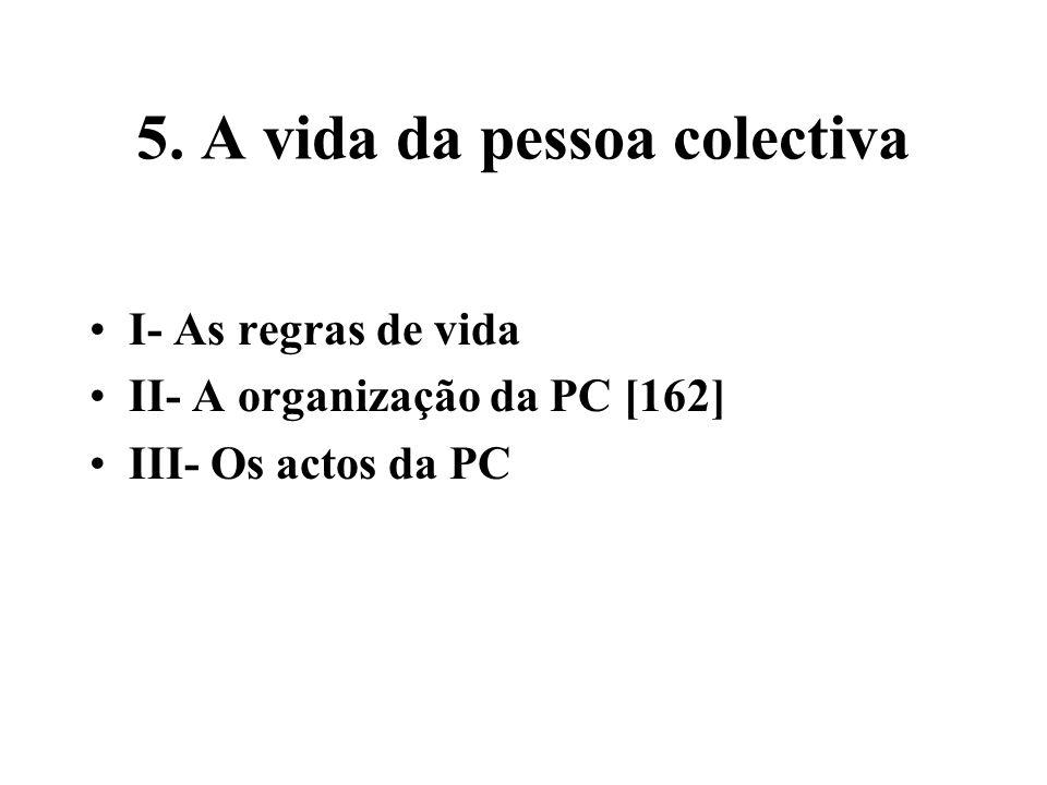 5. A vida da pessoa colectiva