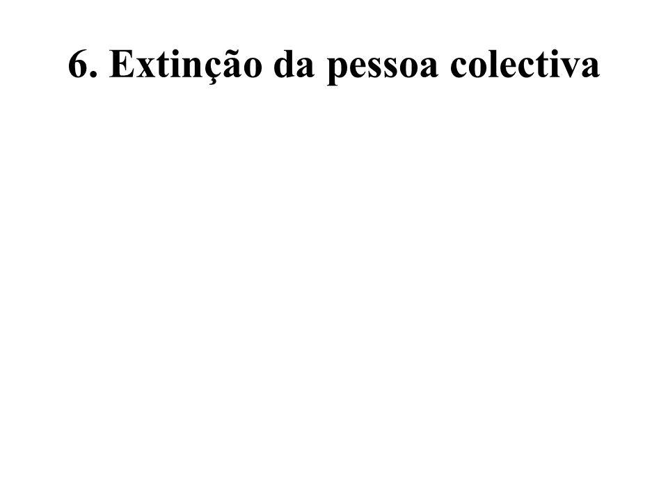 6. Extinção da pessoa colectiva
