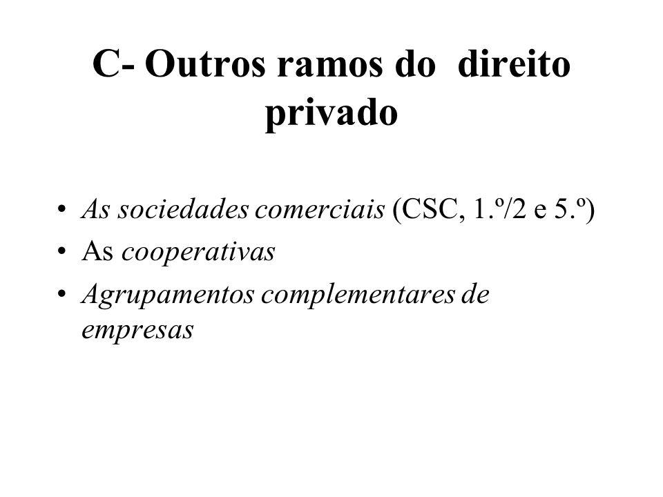 C- Outros ramos do direito privado