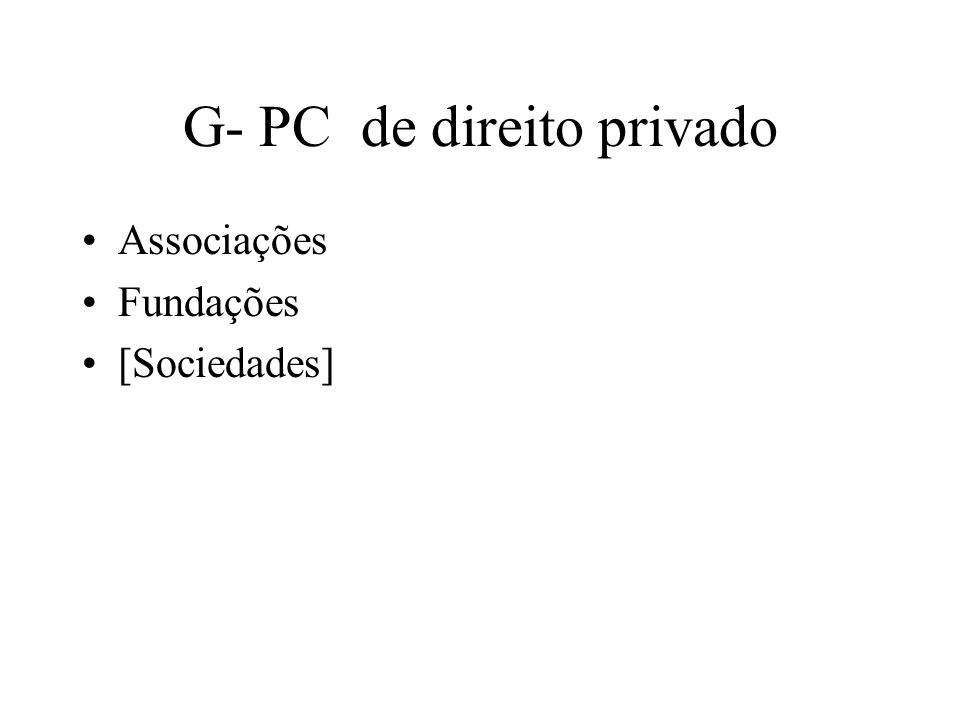G- PC de direito privado