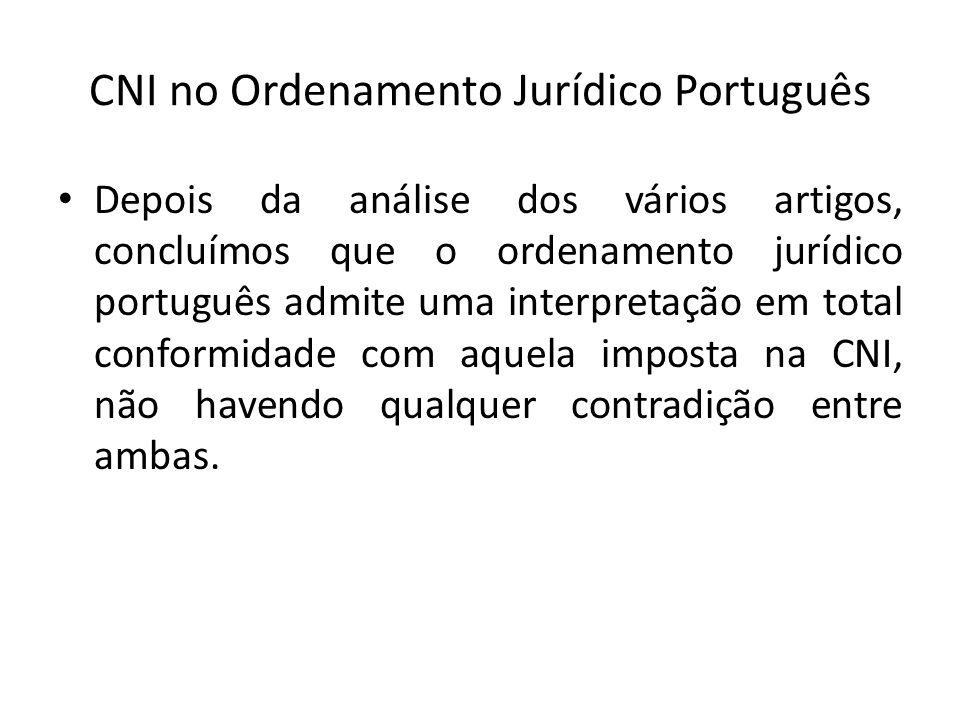CNI no Ordenamento Jurídico Português