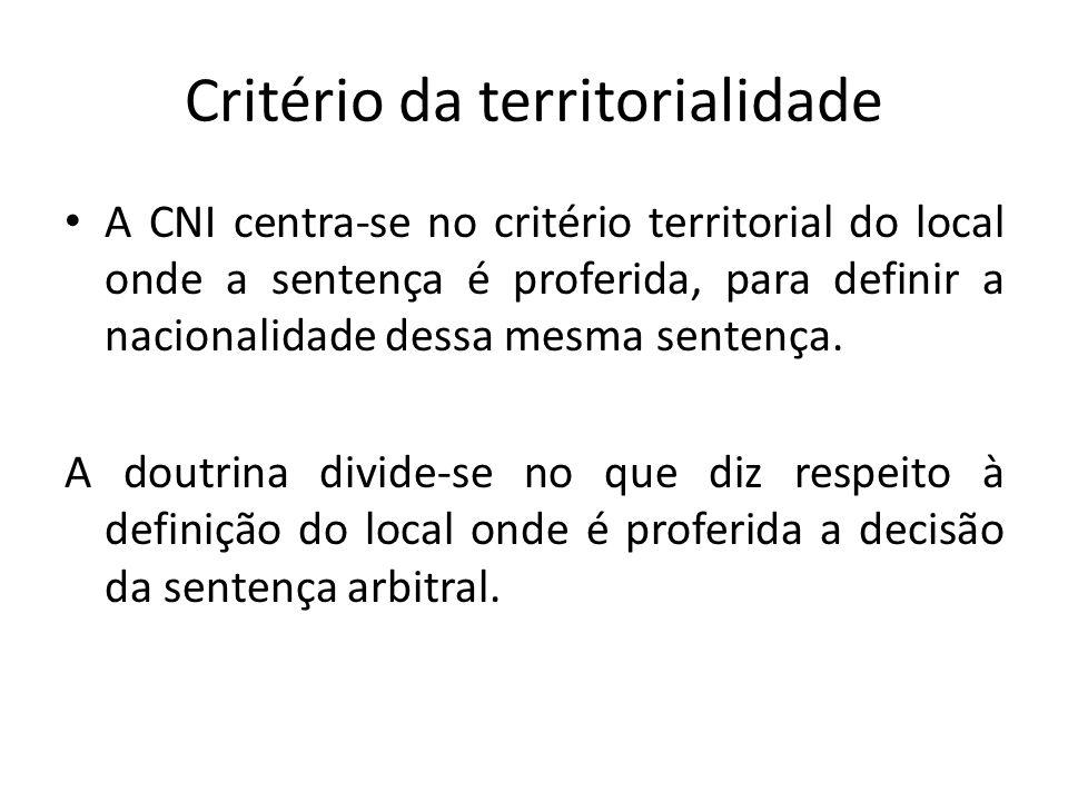 Critério da territorialidade