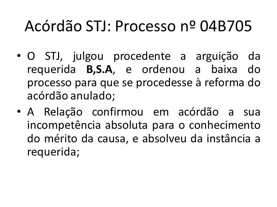 Acórdão STJ: Processo nº 04B705