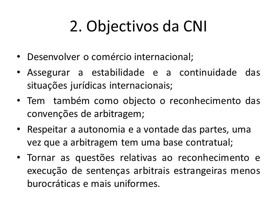 2. Objectivos da CNI Desenvolver o comércio internacional;