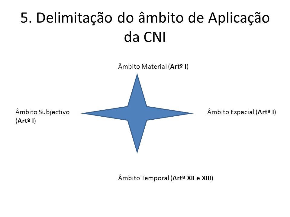 5. Delimitação do âmbito de Aplicação da CNI