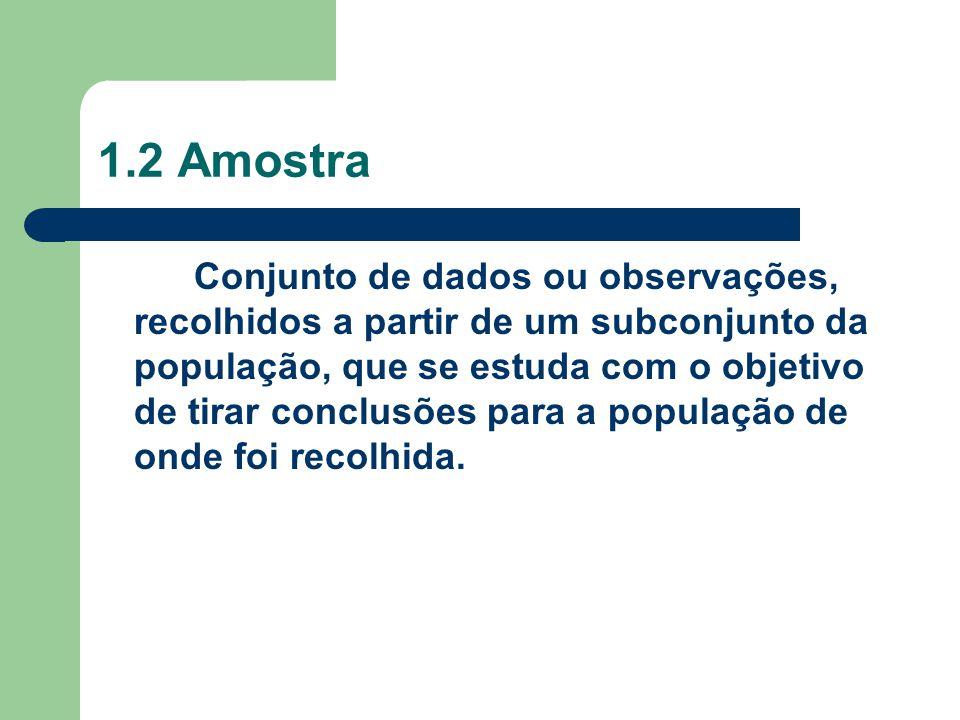 1.2 Amostra