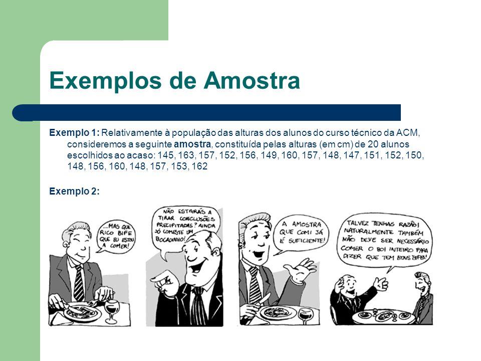 Exemplos de Amostra