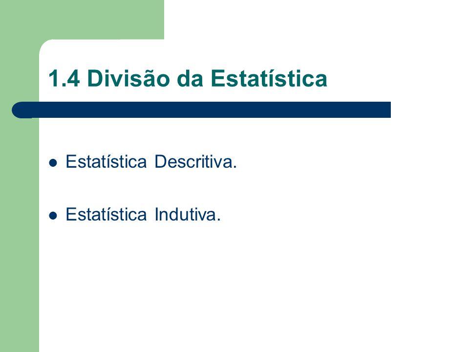 1.4 Divisão da Estatística