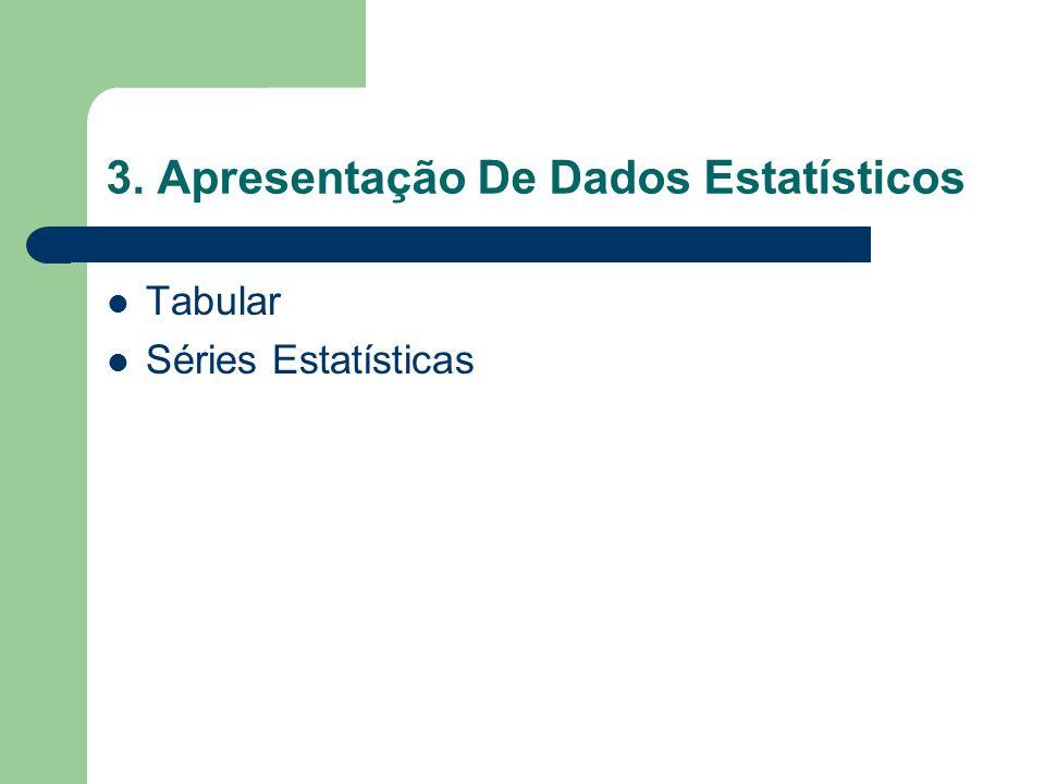 3. Apresentação De Dados Estatísticos