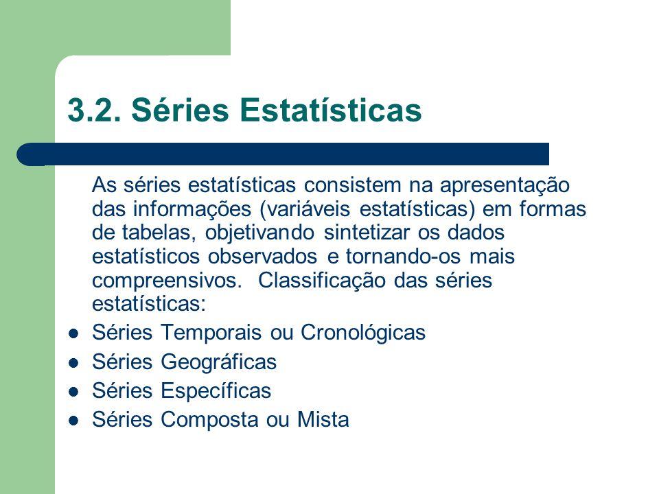 3.2. Séries Estatísticas