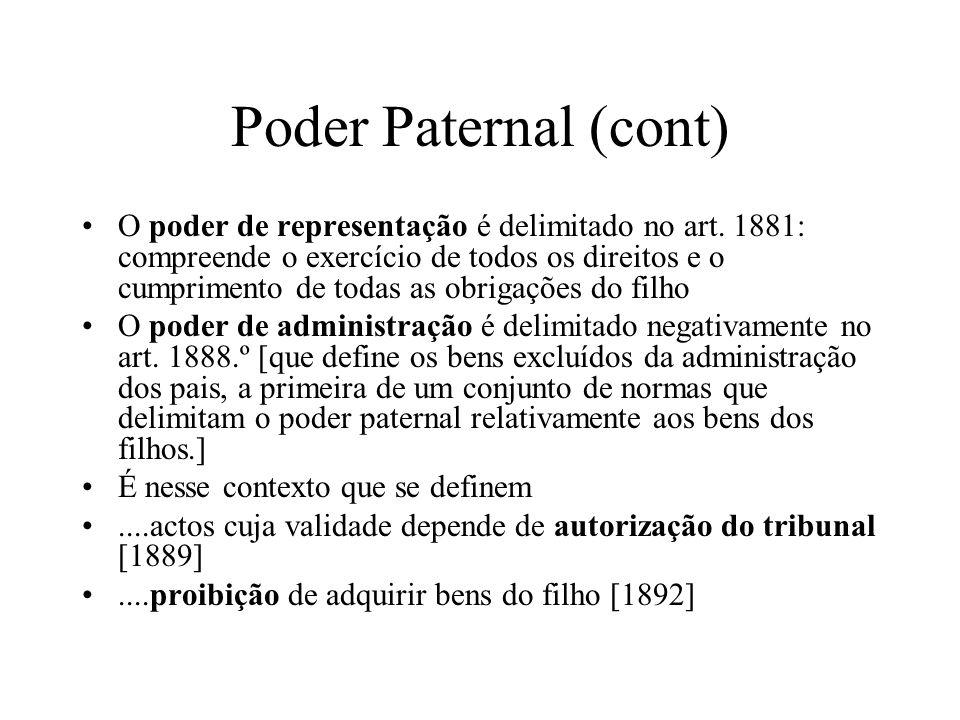 Poder Paternal (cont)