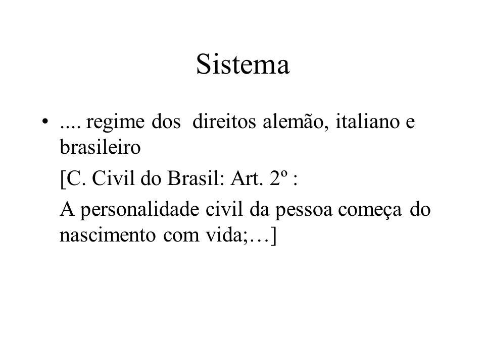 Sistema .... regime dos direitos alemão, italiano e brasileiro