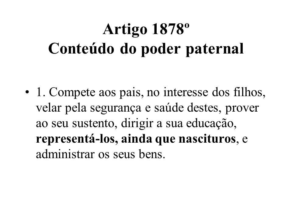 Artigo 1878º Conteúdo do poder paternal