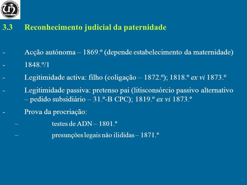 3.3 Reconhecimento judicial da paternidade