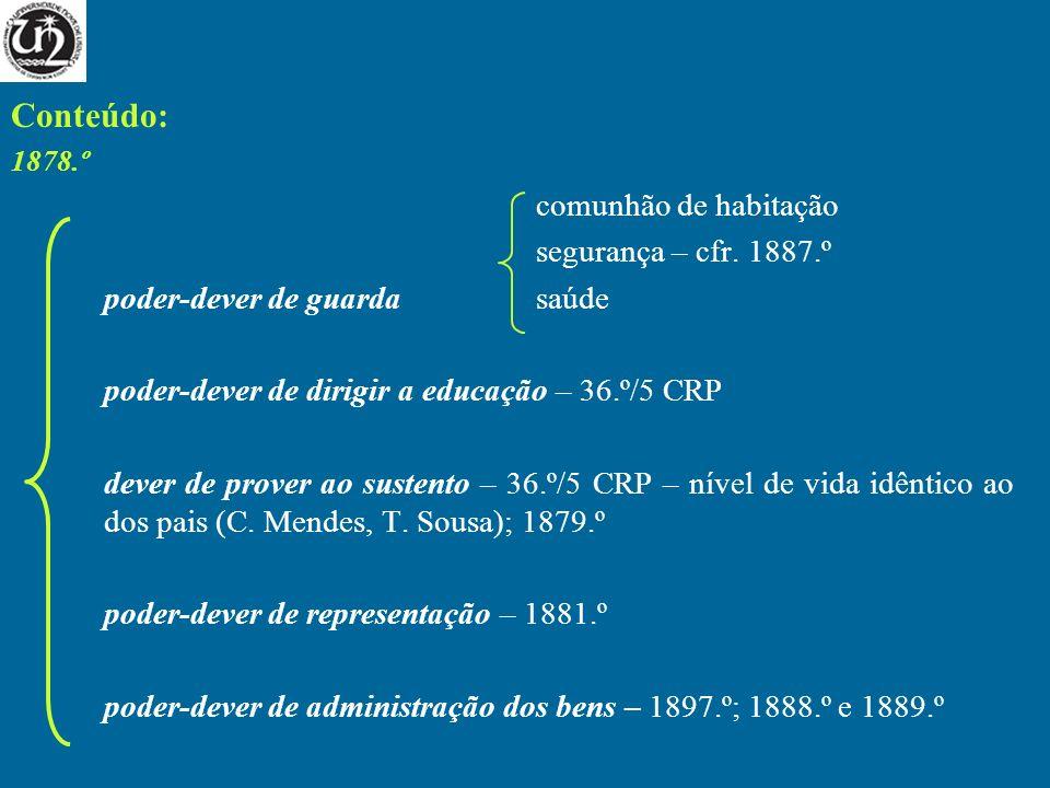 Conteúdo: comunhão de habitação segurança – cfr. 1887.º