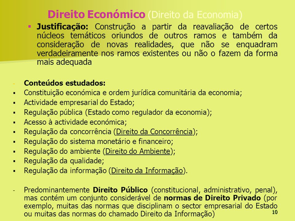 Direito Económico (Direito da Economia)