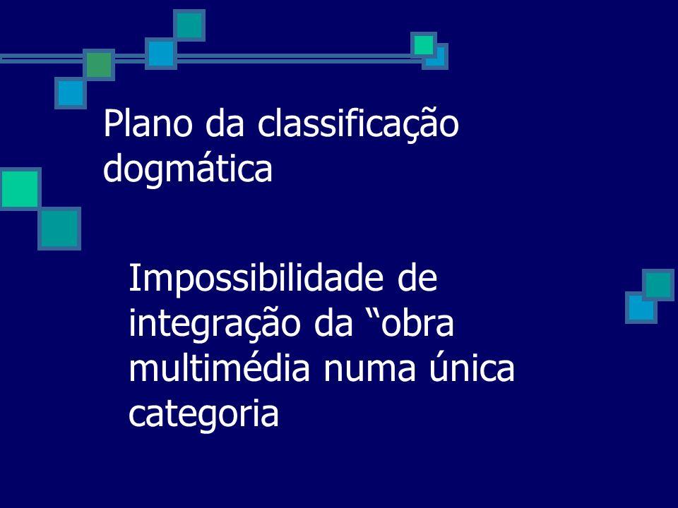 Plano da classificação dogmática