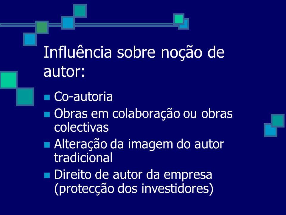Influência sobre noção de autor: