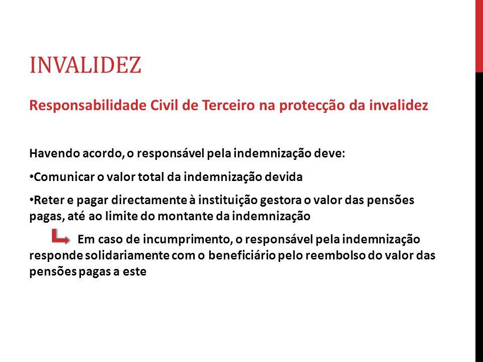 INVALIDEZ Responsabilidade Civil de Terceiro na protecção da invalidez