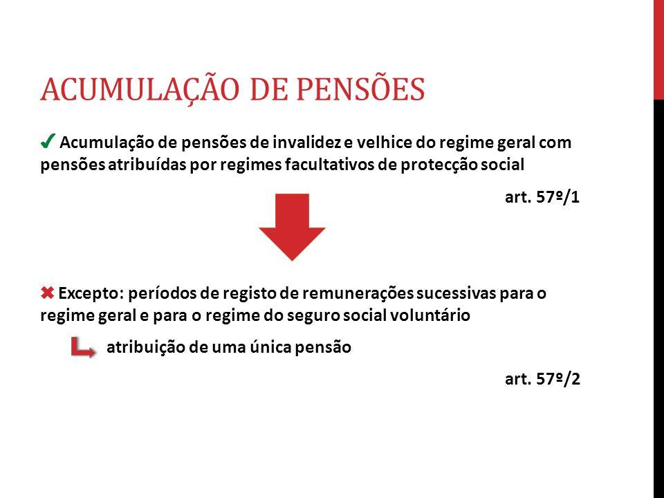 ACUMULAÇÃO DE PENSÕES