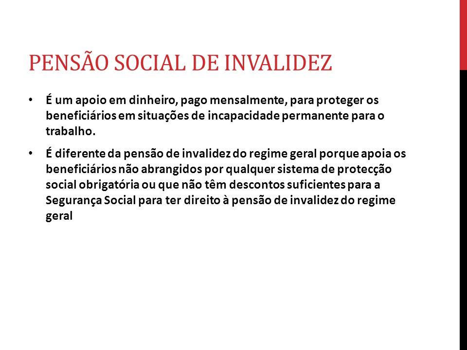 PENSÃO SOCIAL DE INVALIDEZ