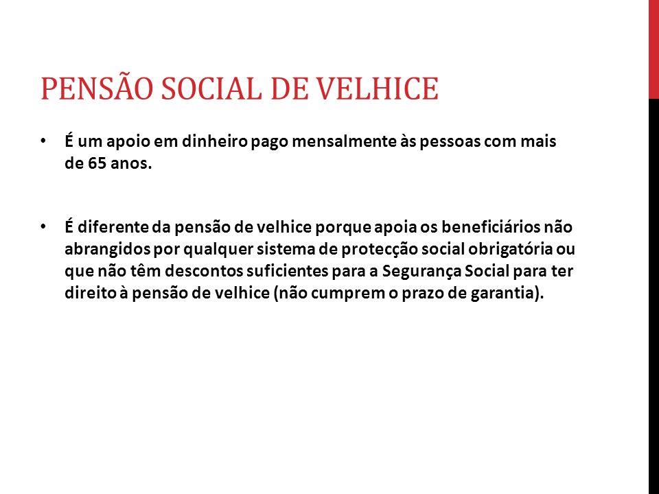 PENSÃO SOCIAL DE VELHICE